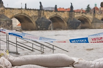 Hochwasserbarriere in Prag © Allianz SE